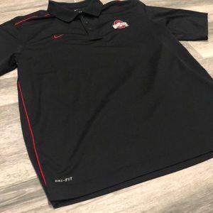 Nike Shirts - Nike Dry-Fit Ohio State Short sleeve Collar shirt